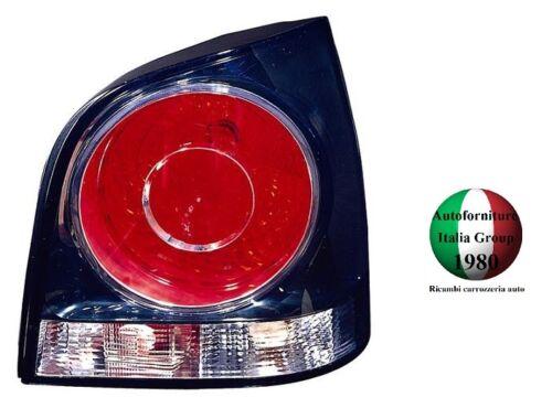 FANALE FANALINO STOP POSTERIORE DESTRO DX FONDO NERO VOLKSWAGEN POLO 05/>09