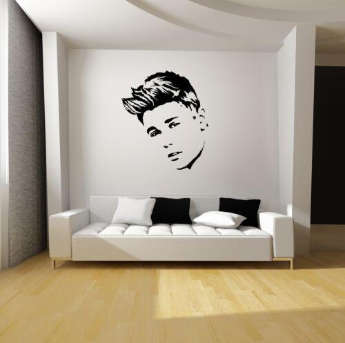JUSTIN BIEBER WALL ART VINYL DECAL MURAL STICKER-Starting at $19.95!-SILHOUETTES