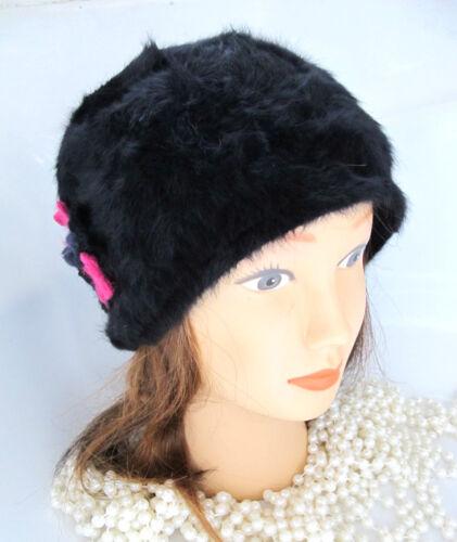 Lili et poppy angora bonnet noir