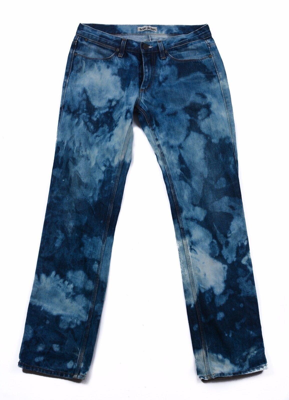 Acne Damen Jeans Größe 31 32 hellblau Rumänien baumwolle reißverschluss vintage