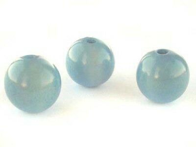 tag-15lbl 15mm two light blue round tagua nut beads