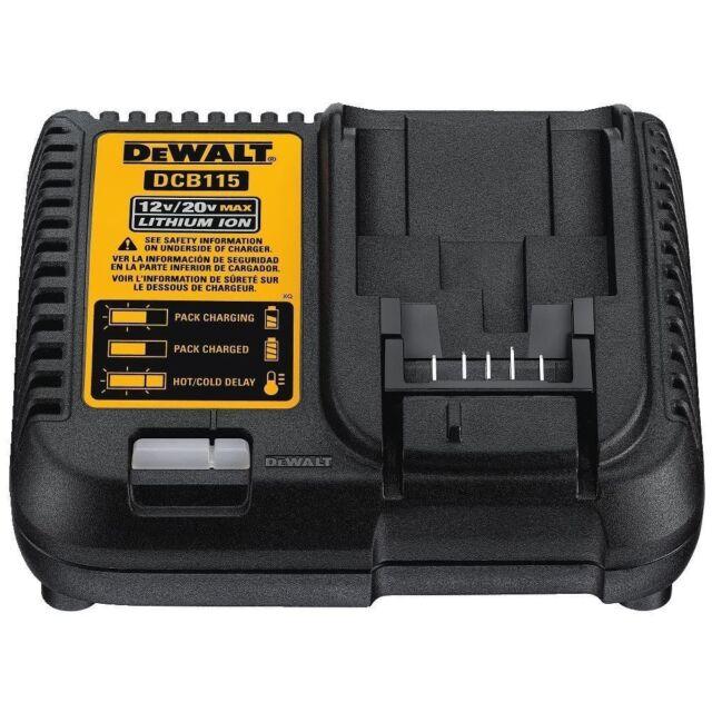 New Dewalt 12 Volt & 20 Volt Max Lithium Ion Battery Charger Model # DCB115