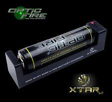 XTAR® MC1 Universal USB charger 18650 26650 14500 batteries + Opticfire battery
