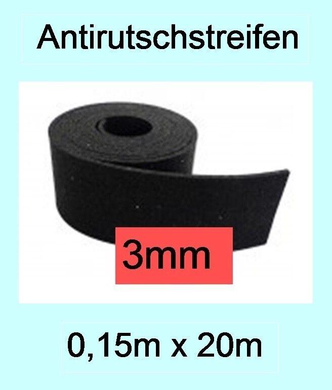 1 Rolle, 3mm Antirutsch-Streifen, 15cm x 20m, Ladungssicherung LKW VDI 2700