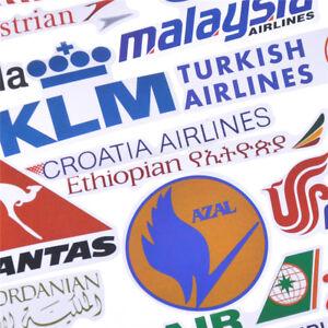 52x-Airline-Logo-Aufkleber-Luftfahrt-Reise-Koffer-LaptopDecor-WasserdichteUDDE