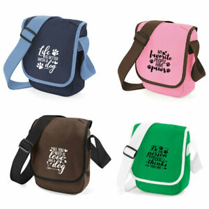 Details About Personalised Mini Reporter Bag Ideal For Dog Walking Funny Dog Quotes