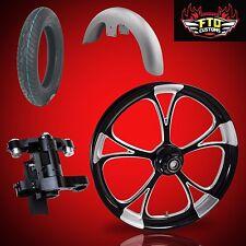 "Harley 26 inch Big Wheel Builder kit, Wheel, Tire, Neck, & Fender, ""Retaliate"""