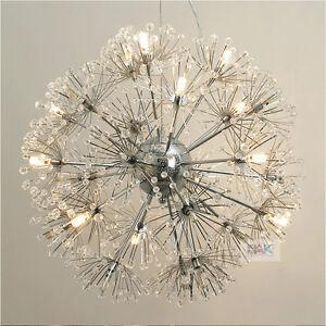 Dandelion modern crystal chandelier led ceiling light fixture image is loading dandelion modern crystal chandelier led ceiling light fixture audiocablefo