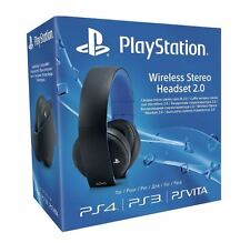 Official Sony PlayStation PS4 PS3 PS Vita Wireless 7.1 Stereo Headset2.0 (Black)