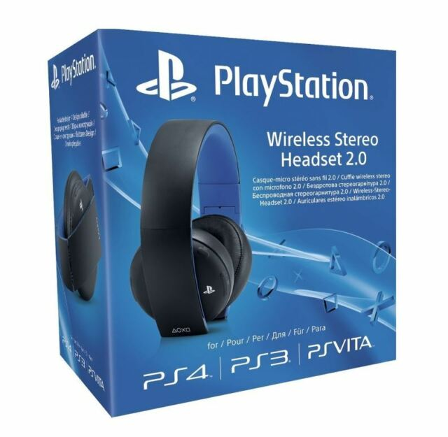 Officiel Sony PlayStation PS4 PS3 PS Vita Sans fil 7.1 Stéréo Casque 2.0 (Noir)
