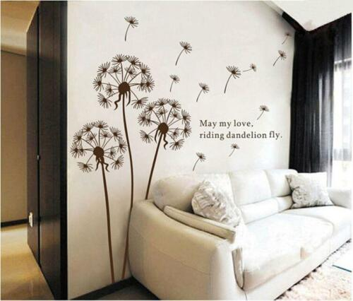 Party Dandelion Wall Sticker Portable Home Decoration Living Room Bedroom Sofa