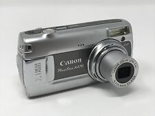 Canon PowerShot A470 7.1 Megapixel Digital Camera Silver/Gray w/ New Batteries