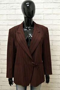 Giacca-Donna-KENZO-PARIS-Taglia-Size-XL-Maglia-Blazer-Jacket-Woman-Lana-a-Righe