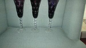 3-Ajka-Purple-Amethyst-Crystal-Thousand-Eyes-Circle-Champagne-Flute-Cut-to-Clear