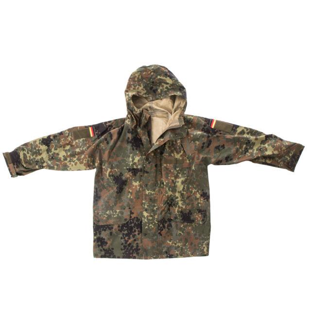 German Army Flecktarn Jacket GORETEX Smock Waterproof & Breathable Used Surplus