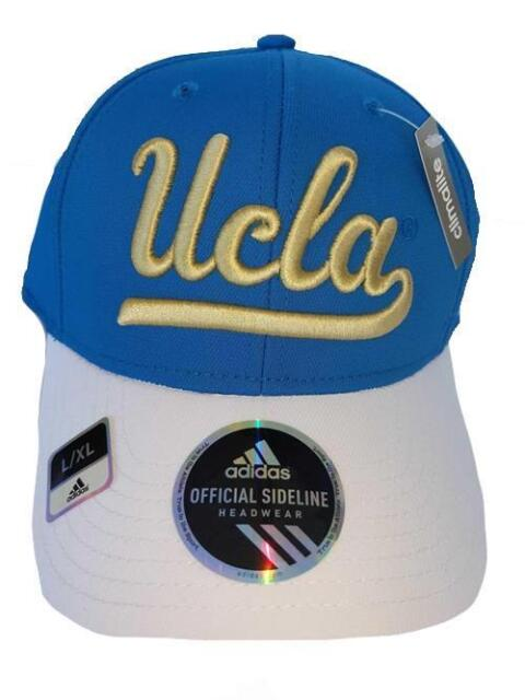 2e087197 adidas UCLA Bruins Blue/white Sideline Structured Flex Hat L/xl | eBay