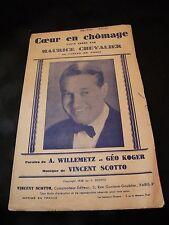 Partitur Coeur in Arbeitslosigkeit Maurice Chevalier Music -blatt