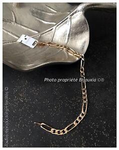 Bracelet-Maille-Figaro-21-cm-x-5-mm-Plaque-or-18-Carats-750-1000-Bijoux