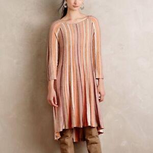d216b2cc195b Anthropologie Moth Nora Knit Swing Midi Dress Long Sleeve Orange ...
