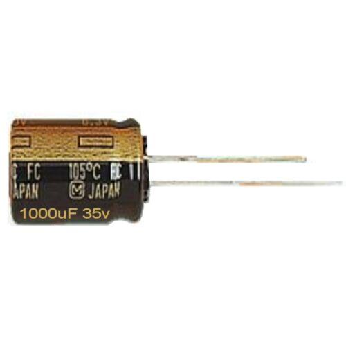 1000uf 25 V 105 ° C Radial Condensateur électrolytique Panasonic-FR Low ESR 1