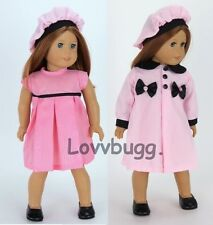 """Pink Coat Dress Hat Set for 18"""" American Girl Doll Clothes Widest Selection!"""
