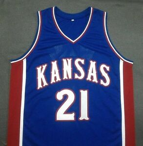 super popular 5c3e8 f320b Details about JOEL EMBIID Kansas Jayhawks Blue Basketball Jersey Gift Any  Size