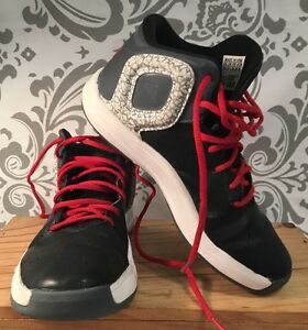 1ad0483735d2 Adidas Derrick Rose Black White Grey Basketball Shoes Youth SZ 2 1 2 ...