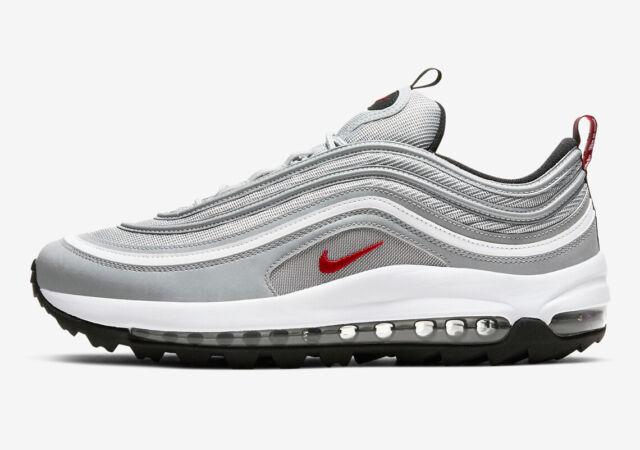 Nike Mens Air Max 97 G Silver Bullet Golf Shoes Ci7538-001 Size 9