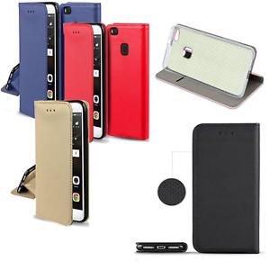 Huawei-Y6-Prime-2018-Lederimitat-Tasche-Schutzhuelle-Case-Cover-SMART-MAGNET