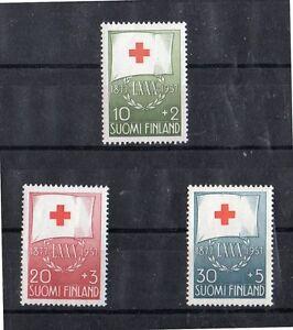 Finlandia-Cruz-Roja-Serie-del-ano-1957-DH-554