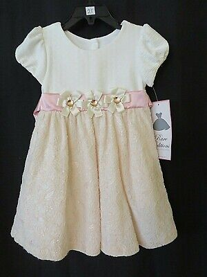 Girl/'s SMOCKED DRESSES  SIZE 24M or 3T Pink RARE EDITIONS MISS ATTITUDE