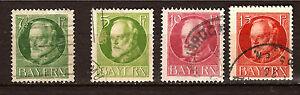 ALEMANIA-BAYERN-4-sellos-matasellados-1900-20-Ludwig-III-PR283