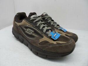Skechers-Men-039-s-Shape-Ups-Liv-Walker-52206-Athletic-Sneakers-Brown-Size-10M