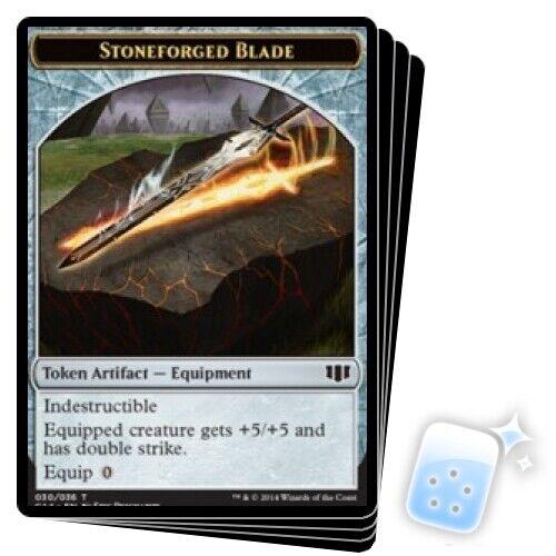 X4 Commander 2014 Magic MTG 14//36 30//36 // GERM TOKEN STONEFORGED BLADE TOKEN