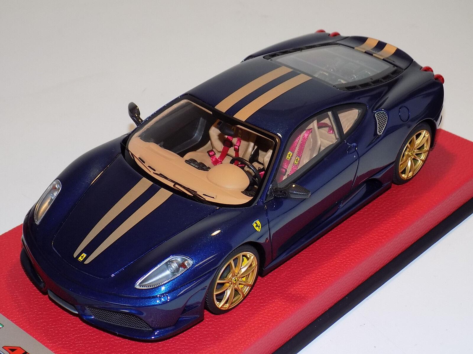 1  18 Looksmkonst MR Ferrari F430 Scuderia blå Tour de France guld Stripes Lim 25