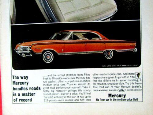 "1964 Mercury Park Lane Marauder Styling Original Print Ad 8.5 x 11/"""