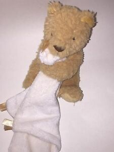 LITTLE JELLYCAT Jelly Cat BUMBLE TAN Teddy BEAR Baby Lovey Security Blanket HTF