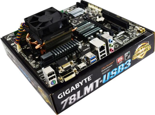 AMD FX-8350 8 Core 4.0GHz Gigabyte GA-78LMT-USB3 R2 Motherboard Bundle 32GB RAM