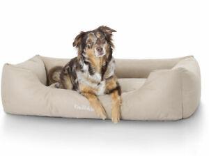 Knuffelwuff Lit pour chien facile d'entretien et d'entretien repoussant Finlay Xxl 120x85cm Beige