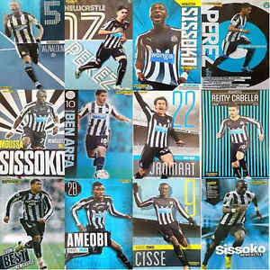 Match-Of-The-Day-Football-Magazine-Player-Pictures-Newcastle-United-Various