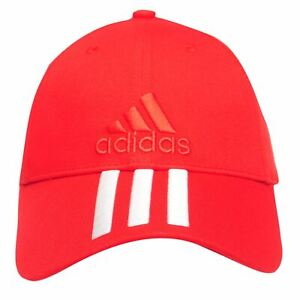 704a7f8a9 Details about NEW UNISEX Adidas Performance 3 Stripes Training Cap Hat Red