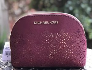 NWT-Michael-Kors-Jet-Set-Travel-Large-Pouch-Mulberry
