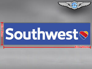 SOUTHWEST AIRLINES SOUTH WEST SWA RECTANGULAR HEART LUV NEW LOGO STICKER / DECAL