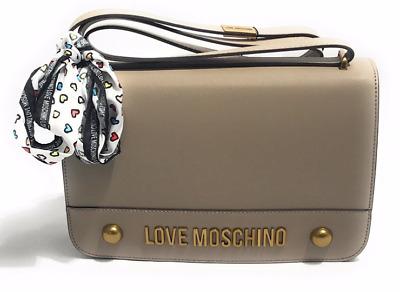 Borsa a mano in ecopelle trapuntata con tracolla Love Moschino color cammello Colore Cammello
