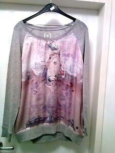 Satin Malvin Nieten Shirt 44 Pullover Damen Perlen Hamburg Mit Gr XwS6Z