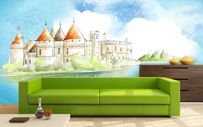 3D Painted Castle 1461 Paper Wall Print Wall Decal Wall Deco Indoor Murals