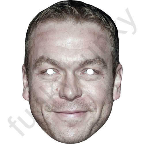 Chris Hoy GB Cyclist Celebrity Sports Card Mask All Our Masks Are Pre-Cut!