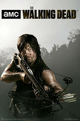 THE WALKING DEAD Daryl Dixon Norman Reedus Crossbow Poster Size 24x36