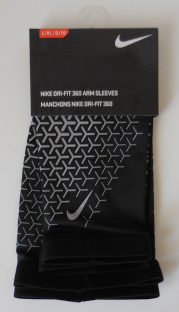 NIKE Dri Fit 360 Arm Sleeves 2.0 Reflective Black Silver Adult Unisex S//M