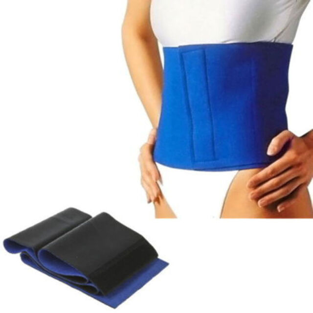 1X Blue Waist Trimmer Wrap Fat Cellulite Burner Body Leg Slimming Shaper Belt
